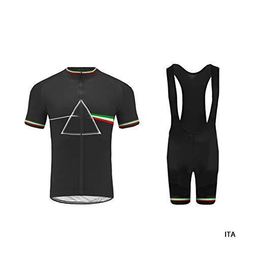 Uglyfrog Nationalflagge Dreieck Design Radtrikot Herren Kurzarm Fahrradbekleidung Set Outdoor Sports Radfahren Jersey + Radfahren Latzhose Shorts im Sommer