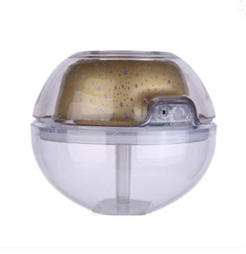 Usb Crystal Night Lamp Projector 500Ml Luchtbevochtiger Desktop Geurverspreider Ultrasone Mist Led-nachtlampje voor thuis-Goud