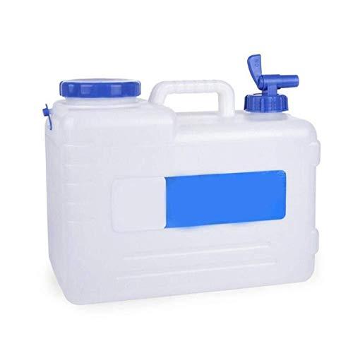 Cubo almacenamiento agua 15L Sin BPA Tanque De Almacenamiento Agua Bidón De Agua Con Grifo Depósito De Agua Dispensador De Tapón De Agua Para Escritorio, Plástico Ideal Para Oficina Camping Zumo Cócte