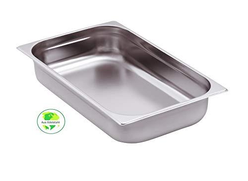 Gastro-Bedarf-Gutheil Gastronormbehälter GN Behälter 1/1 100 mm Tief stapelbar Edelstahl Geeignet für Chafing Dish, Bain Marie, Saladette