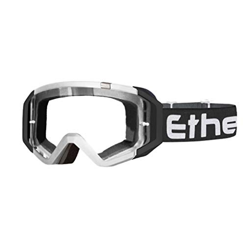 Ethen Gafas/Máscara de Ciclismo, Motocross y Enduro, Lente Antivaho Cilíndrica de Doble...