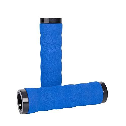 Manopole Manubrio Bici, Spugna Schiuma Manopole Manubrio Bici Antiscivolo Morbide Coperture Antiurto Attrezzature Sportive All'aperto (blu)