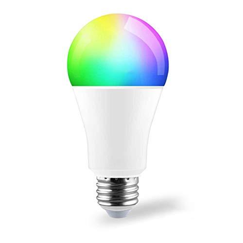 YING Bombilla De Luz Inteligente, Temperatura De Color Ajustable, Bombilla RGB De 9 W, Compatible con Control Remoto De Teléfono Inteligente, para Uso En Sala De Estar, Dormitorio, Paquete De 1,E26