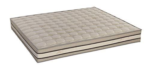 InHouse Srls Memory Foam Bio Cotton, colchón de una plaza y media, 120 x 200 x 25 cm, ergonómico, desenfundable, certificado con dispositivo médico