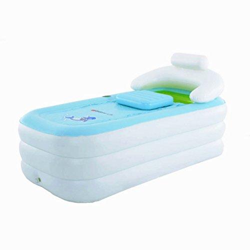 Baignoire Intime Pliable Gonflable Épais Chaude Adultes Spa, Enfants Piscine Gonflable, Blanc