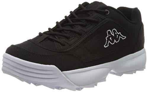 Kappa Herren Rave Sun Sneaker, Schwarz (Black/White 1110), 46 EU