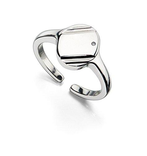 Echt D voor diamanten kinderen baby sieraden Signet Ring doopcadeau