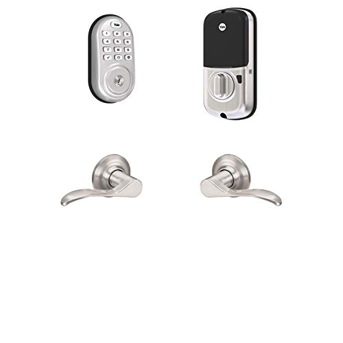 Yale Security B-YRD216-ZW-NW-619 Yale Assure Lock Z-Wave with Norwood Works with Ring Alarm, Smartthings, and Wink Smart Keypad Deadbolt with Matching Lever, Satin Nickel