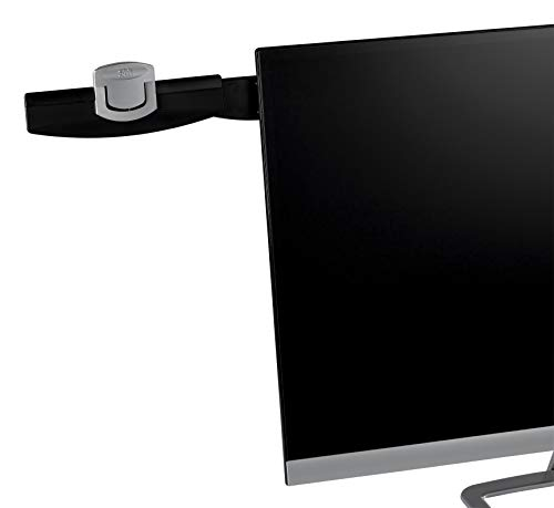 3M Monitor Mount Document Clip Copy Clip, Mounts Right or Left with Command Adhesive, Use on Monitors and Laptops for Easy Viewing and Reduced Clutter, Holds up to 30 Sheets, Black (DH240MB)