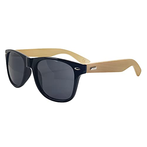 Gafas de sol de madera personalizadas, gafas de sol personalizadas, gafas de sol de bambú Wayfarer hombres mujeres, gafas de sol unisex retro de madera, regalos para él