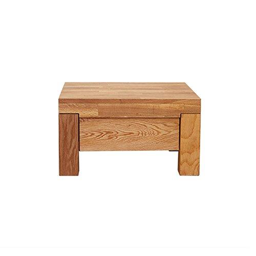 C-T-G Cabinet latéral Solide de casier de casiers de Cabinet de Chevet de Chambre à Coucher en Bois de chêne