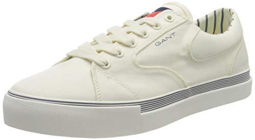 GANT Champroyal Sneaker, Zapatillas Hombre, Blanco Crudo, 45 EU