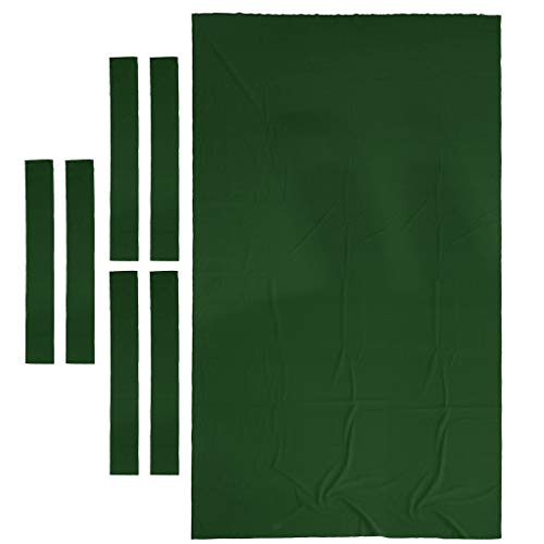 SM SunniMix 9ft Billardtisch Abdeckung Tuch (Maße 280 x 153 cm) Pool Billiard Billiardtuch - Grün