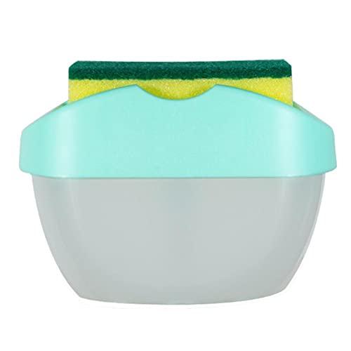 Kidnefn Dispensador de jabón con la Caja de jabón líquido de Estilo de Esponja para el Fregadero de la Cocina