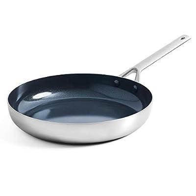 Blue Diamond Cookware Triple Steel Diamond-Infused Ceramic Nonstick, Frying Pan, 11'', Silver