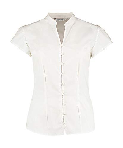 KUSTOM KIT Continental Bluse mit Stehkragen (DE 40) (Weiß)