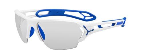 Cébé Sonnenbrille S'track L - Gafas de ciclismo, color blanco y azul,...