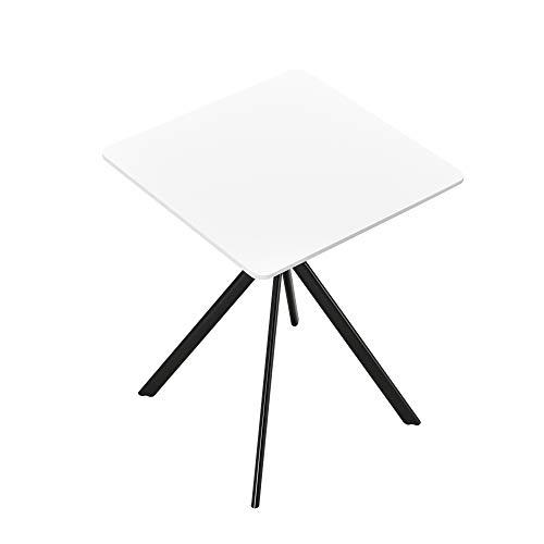 [en.casa] Esstisch - Weiß 60x60x75cm - Küchentisch Esszimmertisch Besprechungstisch Konferenz-Tisch