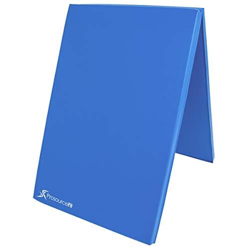 ProsourceFit BiFold Folding Exercise Mat  Blue