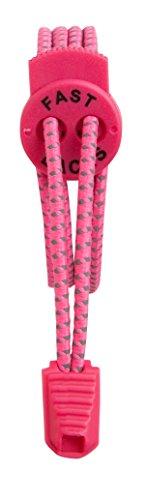 Fast Laces - Cordones elásticos, color Rosa