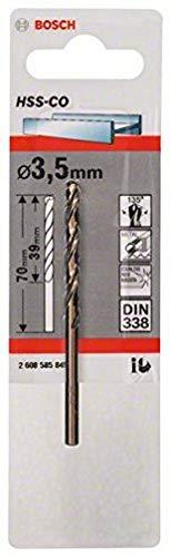 Bosch 2 608 585 845 - Brocas metálicas HSS-Co, DIN 338 (3,5 x 39 x 70 mm)