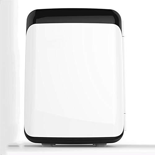 Rindasr Mini-koelkast, 10 liter stroom, koeling en warmte, voor op kantoor, slaapkamer met vriesvak, outdoor-camping, draagbare drankkoeler zwart