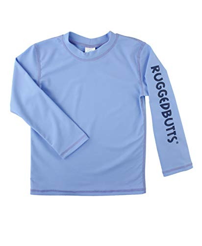 RuggedButts Baby/Toddler Boys Cornflower Blue Logo Long Sleeve Rash Guard - 6-12m