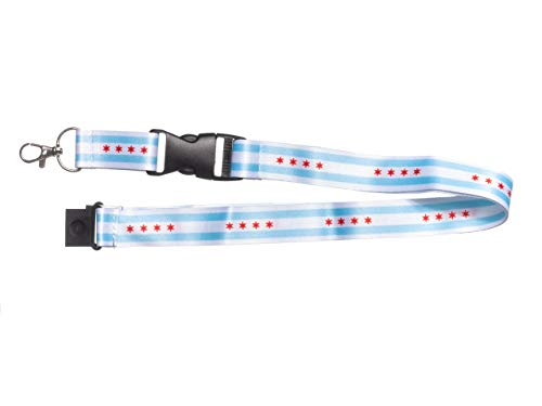 City of Chicago Flag Lanyard