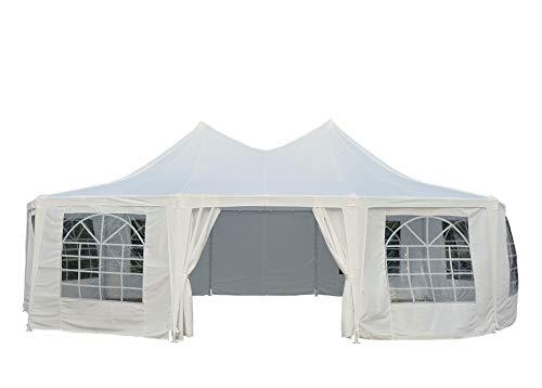 Outsunny 29' x 21' 10-Wall Large Party Gazebo Tent - White