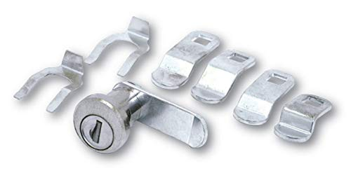 Hudson Lock PTR-DC656UN-0000 Universal Mailbox Lock with Dust Cover, Keyed Different (Pack of 12)