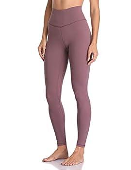 Colorfulkoala Women s Buttery Soft High Waisted Yoga Pants Full-Length Leggings  M Dusty Red