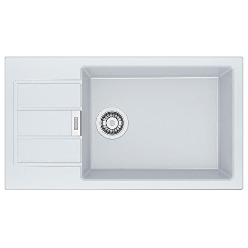 Franke 114.0496.097Fregadero de cocina de granito con cubeta individual, color Blanco Polar