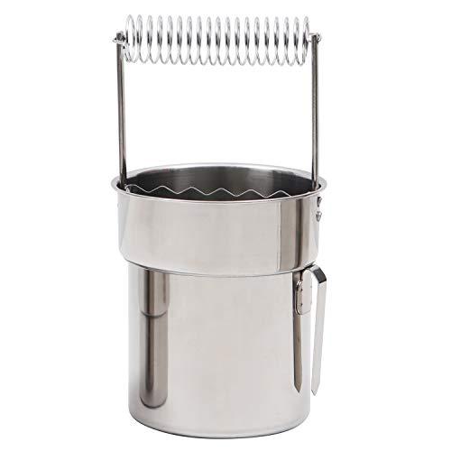 KURTZY Lavador de Pinceles de Artistas Portátil - Limpiador de Brochas de Pintura con Doble Capa, Filtro y Resorte para Sujetar los Pinceles - Limpiador de Cepillo de Acero Inoxidable