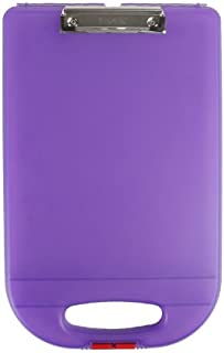 Dexas Clipcase 2 Storage Clipboard with Rounded Handle, Purple