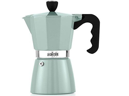 La Cafetiere - Percolador de café espresso clásico (6 tazas), color negro, pistacho, 6 tasses