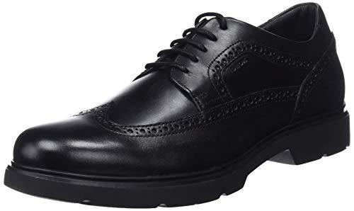 Geox Brogue Boots für Herren - Schlankes Design, sehr bequem, schwarz, Gr. EU 42