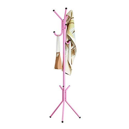 XB-YMJ Portemanteau Debout Porte Manteau Arbre Chapeau Cintre Titulaire 6 Crochets Veste Parapluie Arbre Base De Métal - 146 × 44 Cm (Couleur : Pink)