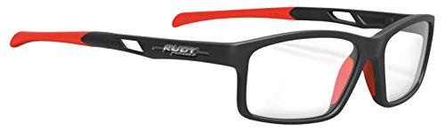RUDY PROJECT Brillen INTUITION MEDIUM C Matte Black Red Fluo Asian Fit Nose 55/18/138 Unisex