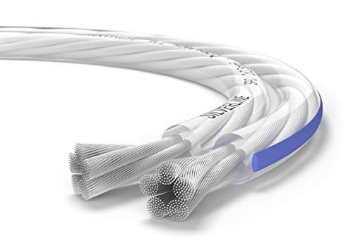 Oehlbach Silverline SP-25 - Stereo HI-FI Lautsprecherkabel - Boxenkabel mit SPOFC (versilbertes Kupfer) 2x2,5mm² - Mini Spule Lautsprecher Kabel - 10m