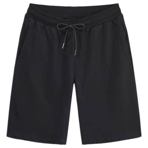 N\P Men's Shorts Casual Loose Sports Shorts Black