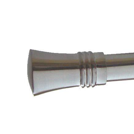 BASIT Endstück f. 20mm Gardinenstangen Edelstahl Look Kappe Kristall - Designs wählbar, Modell:E86