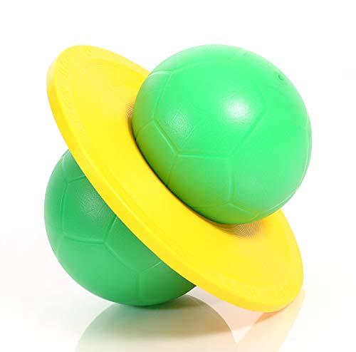 Togu Hüpfball Moonhopper grün/gelb, bis 45 kg belastbar