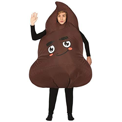NET TOYS Divertido Disfraz Emoji Pila de Caca para Adulto - Marrn L (ES 52/54) - Extraordinaria Vestimenta Unisex Smiley Caca - El Centro de Las miradas para carnavales y Fiestas temticas