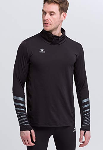 Erima Running Manches Longues Race Line 2.0 Longsleeve Mixte Adulte, Noir, FR : M (Taille Fabricant : M)