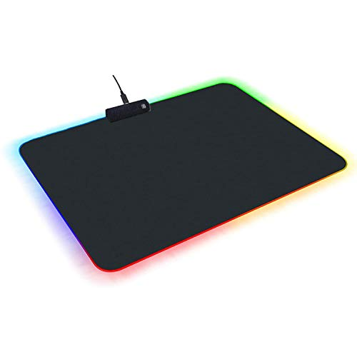 TYUOBOX RGB Gaming Mouse Pad,Soft Non-Slip Rubber Base Mouse Mat for Laptop Computer PC Games (13.79.8 inches)