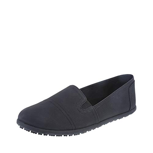 safeTstep Slip Resistant Women's Black Blk Women's Eve Slip-On 8 Wide
