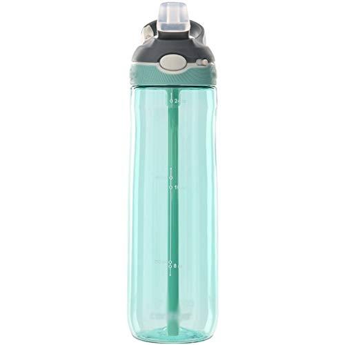 wantanshopping Botella Deportiva 750 ml de Agua de plástico Copa de Bloqueo de Verano Deportes Copa de Paja Botella de Agua Deportiva
