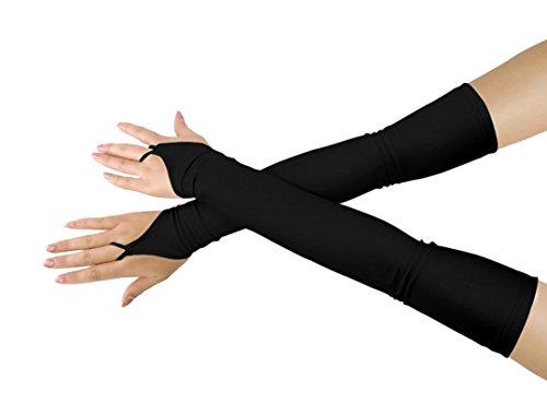 lucky baby store Mädchen 'Boys' Erwachsene Halloween Make-Up Fingerlose Über Elbow Cosplay Kostüm Handschuhe (black)