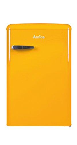 Amica KS 15613 Y Kühlschrank mit Gefrierfach Freistehend Gelb 106 l A++ - Kühlschränke mit Gefrierfach (Freistehend, Gelb, Rechts, 106 l, ST, 41 dB)