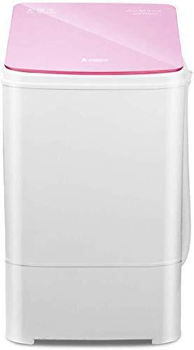 WJY 3.0KG / 6,6 £ Kleine tragbare Kinder Waschmaschine und Trockner Rotary Mini Waschmaschine Kapazität Haushalt Halbautomatische Waschmaschine waschen Dehydration Integration (Color : Rose Color)